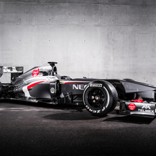 The car has a new side pod design and rear suspension design