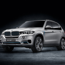 The X5 eDrive plug-in hybrid looks almost identical to the production car