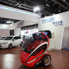 The EN-V was shown in 2010 has a personal electric city car