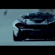 McLaren is still showing the production P1 only with camouflage