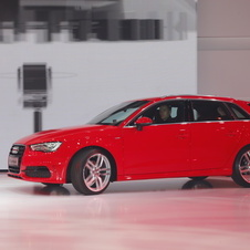 The new Audi A3 at its unveil during the press conference