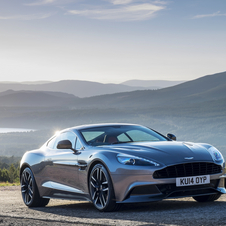 In the case of Vanquish 3hp were increased to a total of 576hp