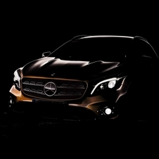 New front design of the Mercedes-Benz GLA has been previewed in teaser picture