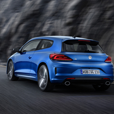 The new Scirocco R uses a 2.0-litre unit producing 280 PS, 15PS more than before