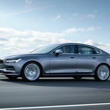 The S90 will be available with the  clean and powerful T8 Twin Engine plug-in hybrid powertrain, delivering up to 410 hp