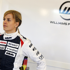 Toto Wolff's wife, Susie, became a development driver for Williams last year