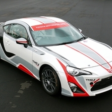 The GT86 racecar uses a stock engine and transmission with suspension upgrades