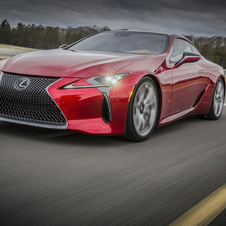Design and technology shown on the concept has been carried over into the LC 500