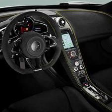 The interior also includes the most recent McLaren technology developments