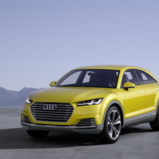 The new Audi concept is equipped with a plug-in hybrid system with a petrol engine and two electric motors