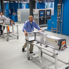 The lab tests the battery packs for all of GM's vehicles and develops the next generation