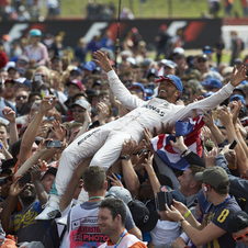 This was Hamilton's third consecutive win in Silverstone