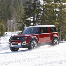 Land Rover DC100 in the Snow