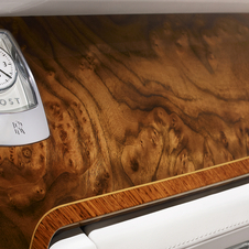 Walnut burr is used for the interior trim, and each car uses a single log