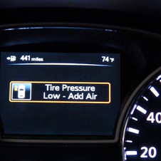 It also displays the low tire and its pressure