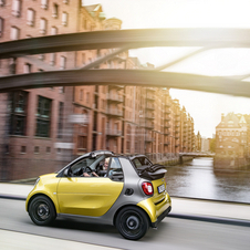 In terms of the fortwo cabrio engine receives the same range as the coupé with 71hp and 90hp turbo versions