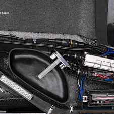 Most of the electronic controls are located under the driver's feet