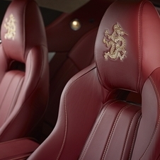 Gold dragons are also embroidered into the headrests