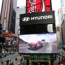 Race a Hyundai from your Iphone on a Billboard Above Times Square