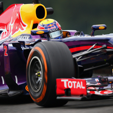 Vettel had tire problems during the second practice session