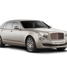 The Bentley Hybrid Concept is based on the Mulsanne but is 25 percent more powerful