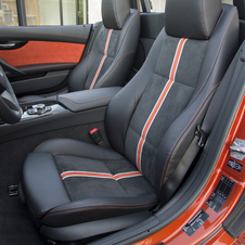 the package adds orange trim to the seats too