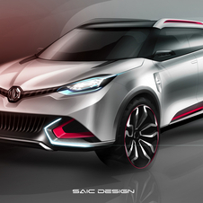 The design creates an angular, modern compact SUV with wrap-around class