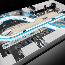 Its exhibit area includes a 300m-long test track