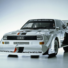Walter Rohl returning to the Pikes Peak on the original Audi Sport quattro S1