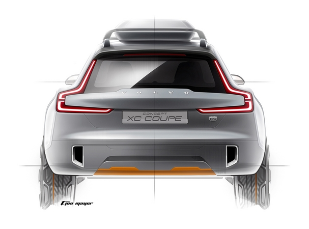 Volvo will unveil its XC Coupe concept at the North American International Auto Show