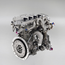 The engine is a 1.6-liter turbocharged four-cylinder with 300hp