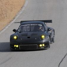 The car took part in the GTE-car test at Sebring in Florida