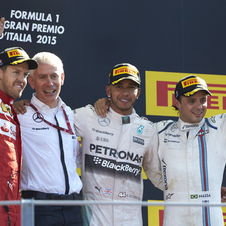 Sebastian Vettel and Felipe Massa were at the podium in Monza