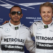 Rosberg finished in front of Hamilton by 0.254 seconds