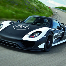 The prototype 918's body is meant to evoke the 917