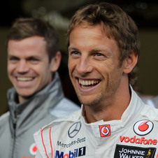 Button takes his first pole position since 2009