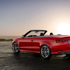 The S3 Cabriolet can reach 100km/h in 5.4s and a top limited speed of 250km/h