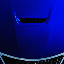 The F Coupe has a hood scoop