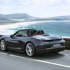 The 718 Boxster can reach 100km/h in 4.7 seconds while the 718 Boxster S reaches the mark in 4.2 seconds