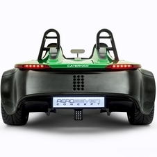 The rear is simplified as well with simple LED headlights and bare carbon fiber