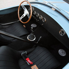The interior is simplified compared to the street versions