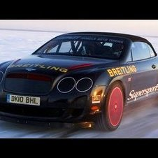 Bentley Continental Supersports: Tempo-Rekord auf Eis im Cabrio