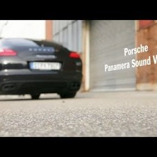 Creating music with the sound of a Porsche Panamera