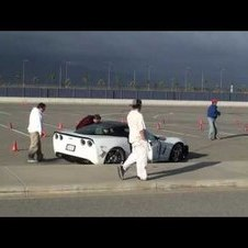 Corvette Crashes During An AutoCross Event