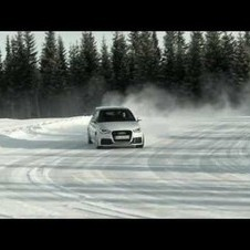 The Audi A1 quattro on ice